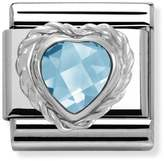 Nomination Light Blue Heart CZ Classic Charm 330603/006