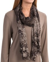 Forte Cashmere Pixelated Animal Print Scarf - Cashmere and Silk (For Women)