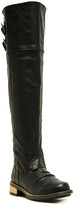 Qupid Black Relax Over-the-Knee Boot