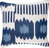 Madeline Weinrib Collins Ikat Silk-Cotton Pillow-BLUE