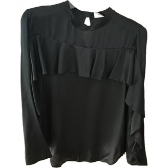 Ports 1961 Black Silk Top for Women