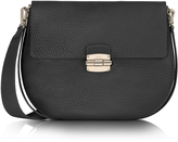 Furla Club M Onyx Pebble Leather Shoulder Bag