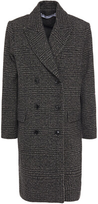 IRO Karpa Double-breasted Prince Of Wales Checked Wool-blend Coat
