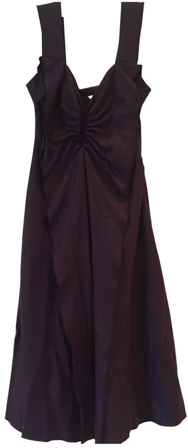David Szeto Burgundy Wool Dress for Women