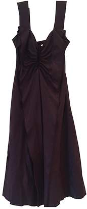 David Szeto Burgundy Wool Dress for Women