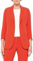 Akris 3/4-Sleeve One-Button Jacket, Rojo