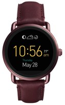 Women's Fossil Q Wander Leather Strap Digital Smart Watch, 45Mm