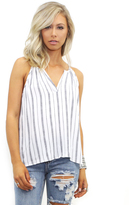 West Coast Wardrobe Ahoy Striped Tank in Ivory Stripe
