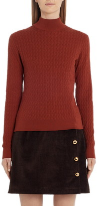 Dolce & Gabbana Mock Neck Silk Sweater