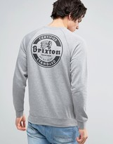 Brixton Soto Sweatshirt With Logo Back Print