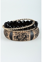 Flower Print Bangle Set