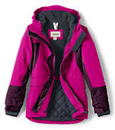 Classic Girls Squall Parka-Burgundy Large Floral