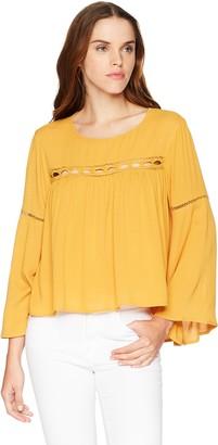 LIRA Women's Amanda Pesant Boho Long Sleeve Blouse