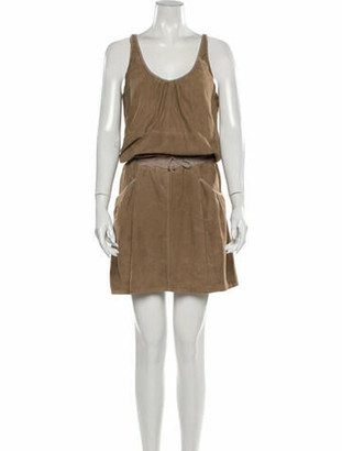 Brunello Cucinelli Silk Knee-Length Dress Brown