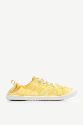 Ardene Pineapple Print Canvas Sneakers