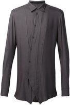 Julius off centre fastening shirt
