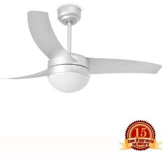 ABS by Allen Schwartz Faro Barcelona Easy 33416 Fan with Light, 15 W, Blades and Opal Glass Light Diffuser, Grey
