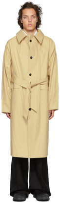Kassl Editions Beige Below The Knee Trench Coat