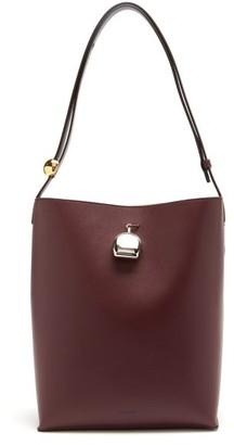 Jil Sander Perfume-charm Medium Leather Tote Bag - Burgundy