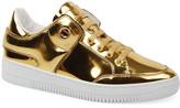 Roberto Cavalli Men's Metallic Leather Low-Top Sneakers