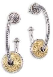 Konstantino Gaia Etched Sterling Silver Hoop Earrings