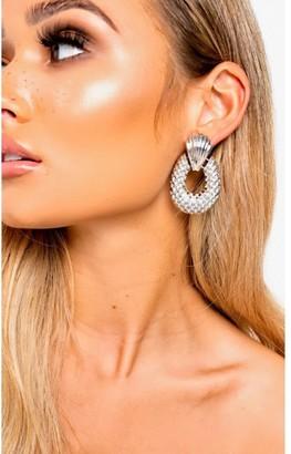 IKRUSH Darcey Pineapple Statement Drop Earrings