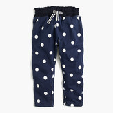 J.Crew Girls' polka-dot-lined sweatpant