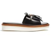 Tod's Fringed leather slides
