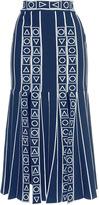 Peter Pilotto Navy Index Knit Skirt
