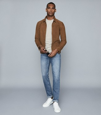 Reiss Rage - Tapered Slim Fit Jeans With Stretch in Blue