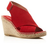 Kenneth Cole Quin Suede Espadrille Wedge Sandals