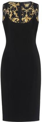 Versace Stretch-crepe midi dress