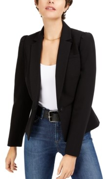 Bar III Puff-Sleeve Blazer, Created for Macy's
