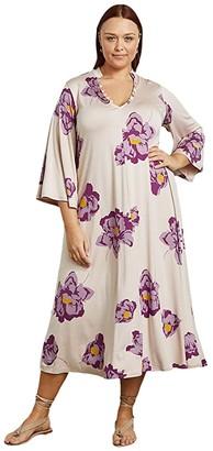 Rachel Pally Plus Size Jersey Corwin Dress (Peony) Women's Clothing