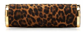 Hunting Season Leopard-Print Suede Clutch