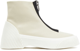 3.1 Phillip Lim Lela Zip-detailed Leather Ankle Boots