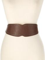Betsey Johnson Brown Stitch Stretch Belt