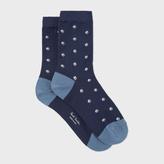 Paul Smith Women's Navy 'Split Dot' Pattern Socks