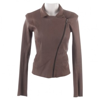 Utzon Brown Leather Jacket for Women