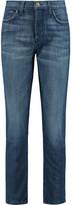 Current/Elliott The Vintage high-rise straight leg jeans