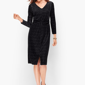 Talbots Velvet Jacquard Sheath Dress