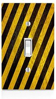 Rustic Black and Yellow Light Switch Plate