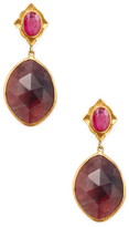 Amrapali Sapphire and Ruby Drop Earrings