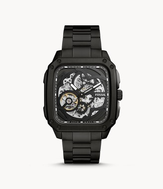 Fossil Inscription Automatic Smoke Stainless Steel Watch
