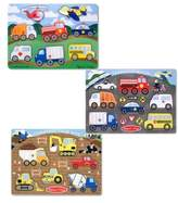 Melissa & Doug Toddler Vehicle Peg Puzzles