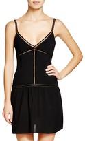 Sofia by Vix Solid Black Dress Swim Cover Up
