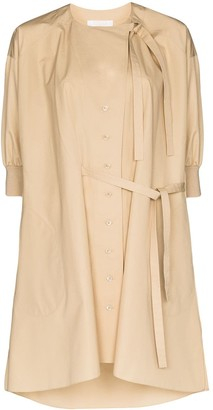 Chloé Button-Front Shirt Dress