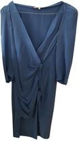 Maje Blue Silk Dresses