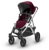 UPPAbaby Vista 2017 Stroller - Dennison Bordeaux w/ Silver Frame