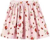 Dolce & Gabbana Mini Me flower and ladybird print skirt